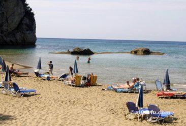 Korfu Fotos, Strand von Agios Gordis