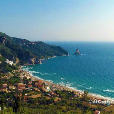 Korfu Fotos, Strand von St. Gordis