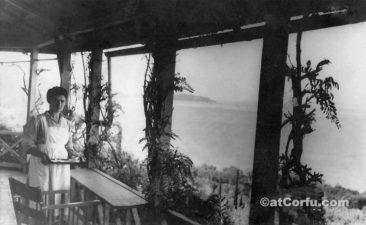 Benitses - Alexandra im Haus von Parmenidis um 1960