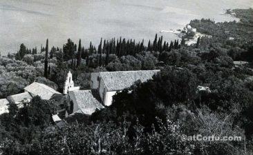 Benitses - von San Stefano Hügel um 1970