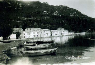 Benitses - der Hafen um 1960