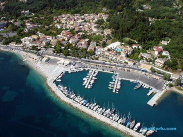 Benitses airphotos - der Yachthafen