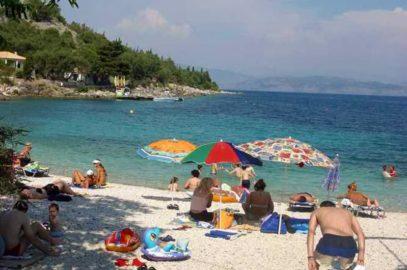 Benitses - Strand bei Limeri