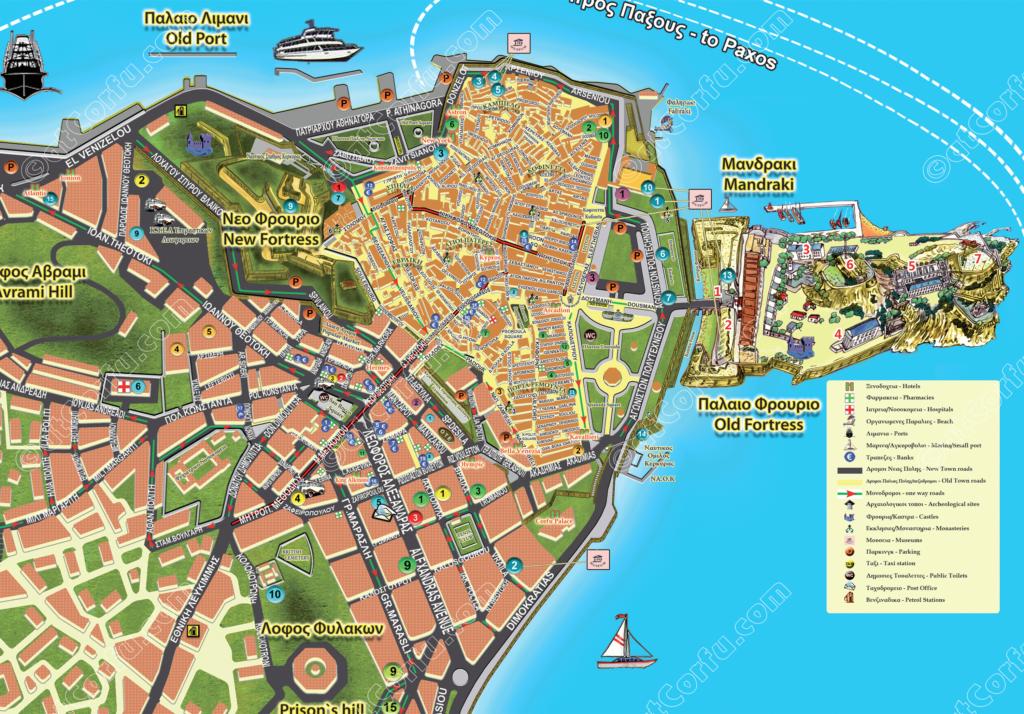 Korfu Stadtplan