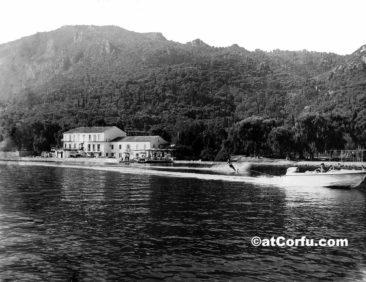 Benitses-Wasserski im Avra Hotel 1962