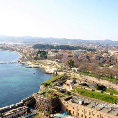 Korfu Fotos - Stadt aus alter Festung