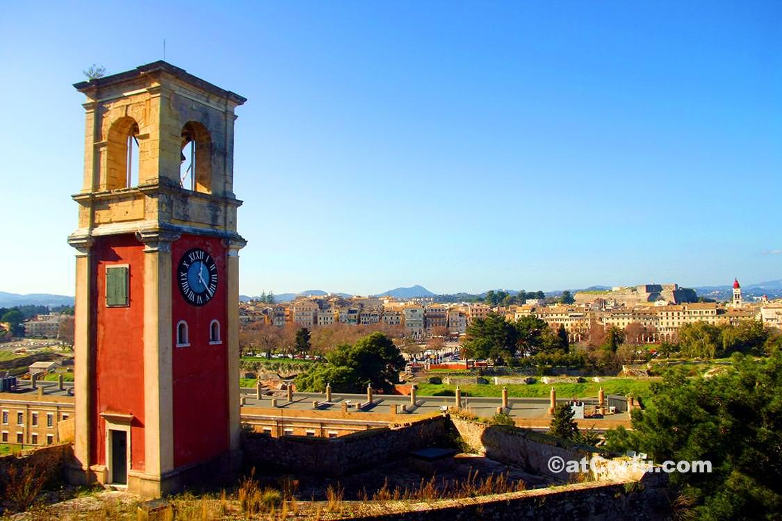 Korfu Fotos - Uhrturm in der alten Festung