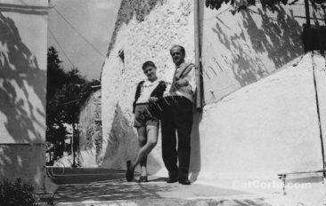 Benitses - Thanasis Skevoulis mit Sohn
