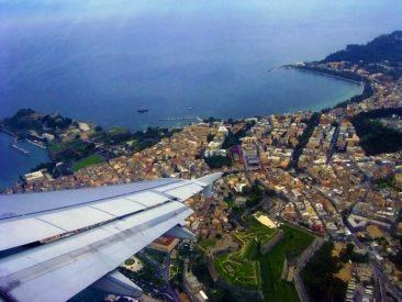 Korfu Fotos - Altstadt aus dem Flugzeug