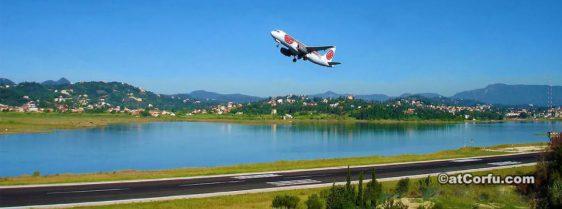 Flughafen von Kanoni Corfu