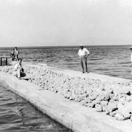 Benitses Yacht Marina, der Bau des alten Hafens -1950