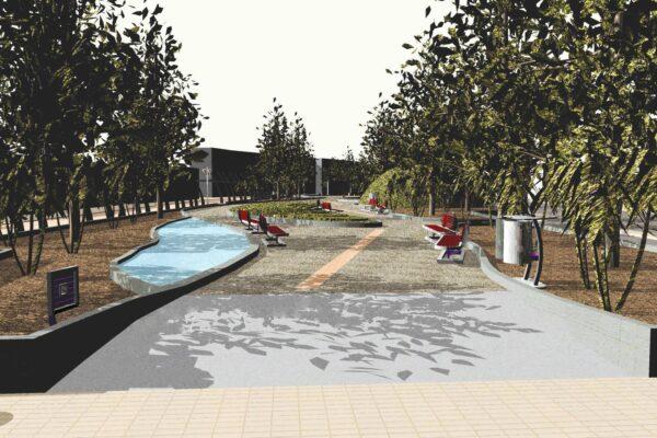 Benitses Platz, der Mittelteil