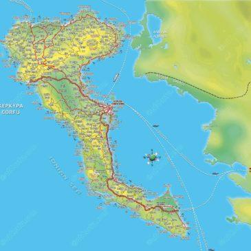 Korfu Griechenland Karte