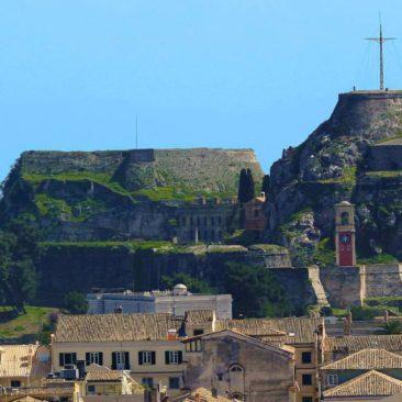 Korfu - alte Festung von der neuen Festung gesehen