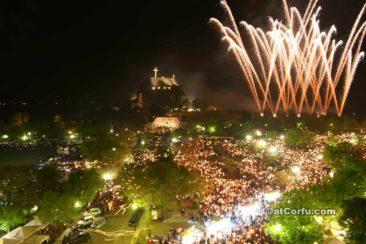 Ostern auf Korfu - Feuerwerk