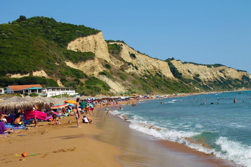Gardenos Strand im Südwesten von Korfu