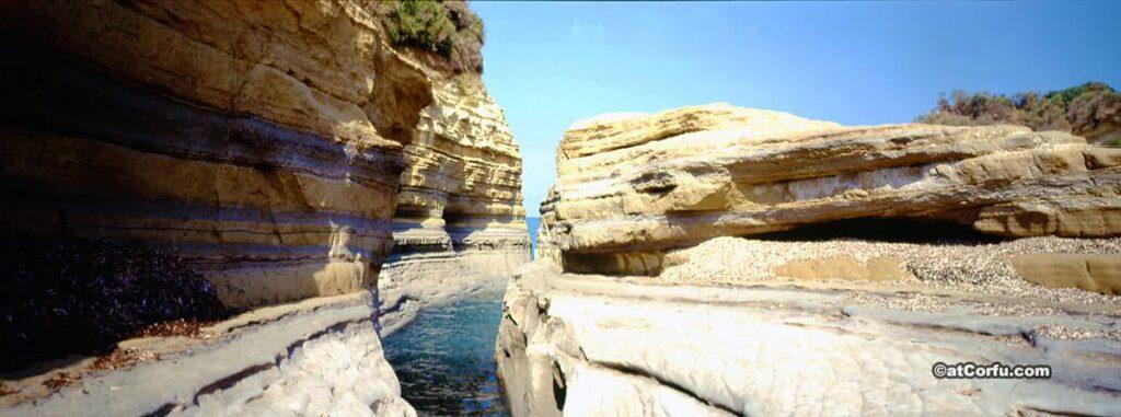 Felsen bei Sidari Korfu