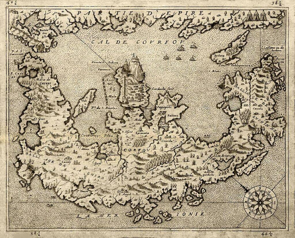 Korfu Karte von 1575