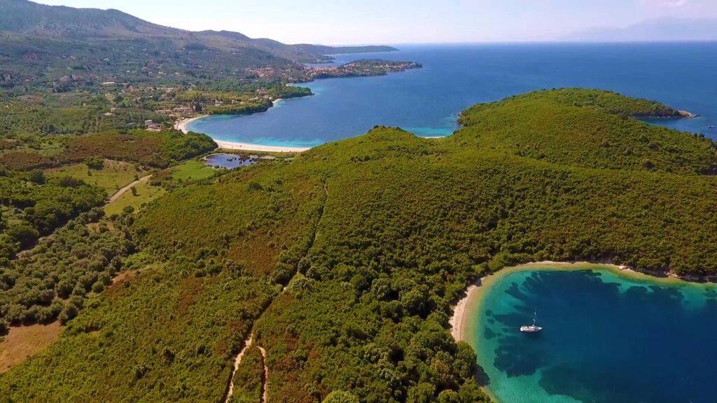 Avlaki Strand in Erimitis Corfu