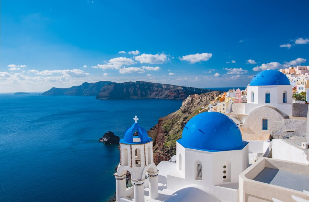 Landschaft in Santorini