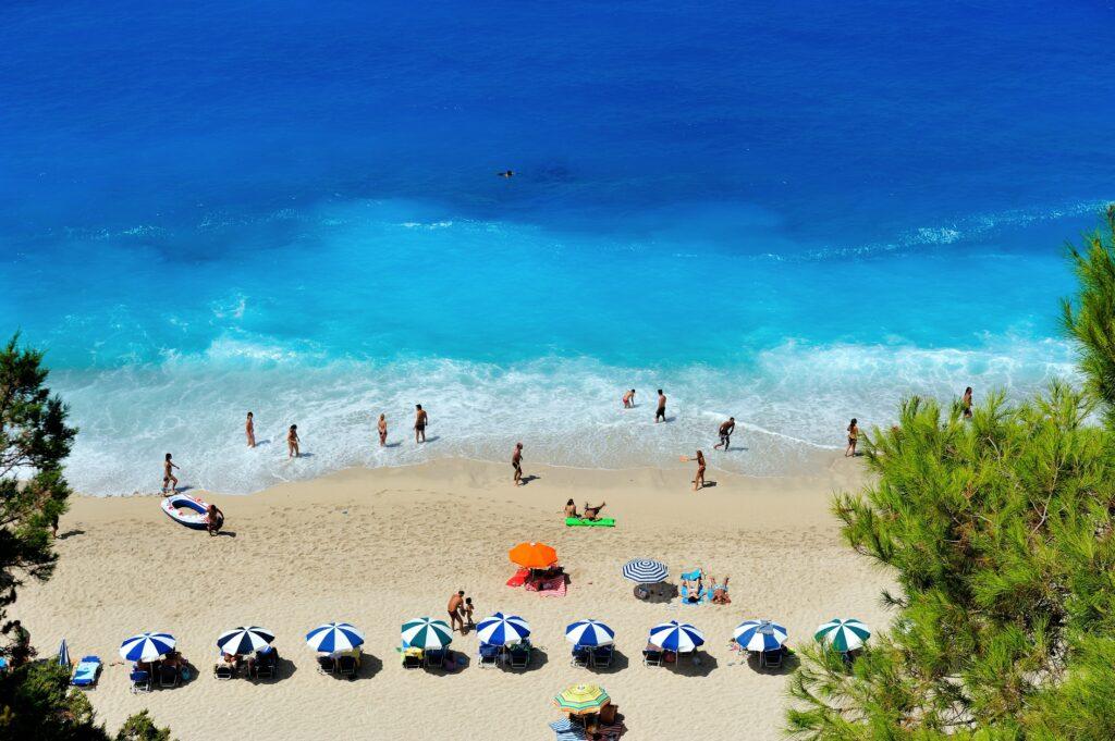 Spektakulärer Strand in Griechenland