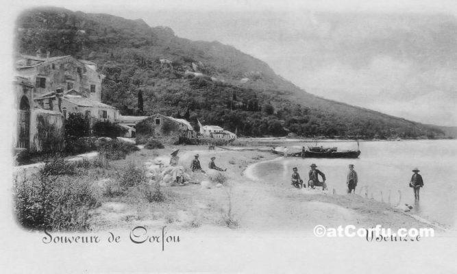 Μπενίτσες του 1900 -Αριστερά το κτίριο Βανδώρου
