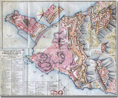 Κέρκυρα ιστορία - Οχυρώσεις της Κέρκυρας