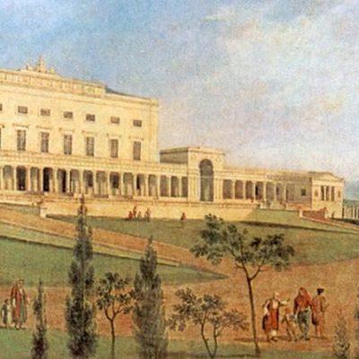 Κέρκυρα ιστορία - παλάτι Μιχαήλ και Γεωργίου σε παλιά γκραβούρα