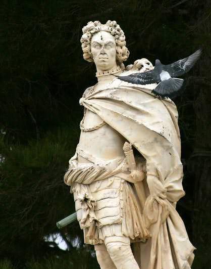 Κέρκυρα ιστορία - Johann Mattias Von Schulenburg - η προτομή του στην είσοδο του παλαιού φρουρίου της Κέρκυρας
