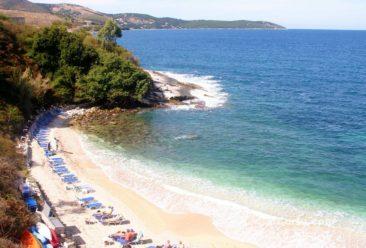 Κέρκυρα φωτογραφίες - παραλία στην Κασσιόπη