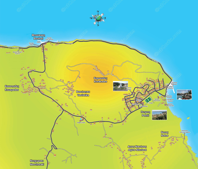 Χάρτης Πετριτή Μπούκαρη