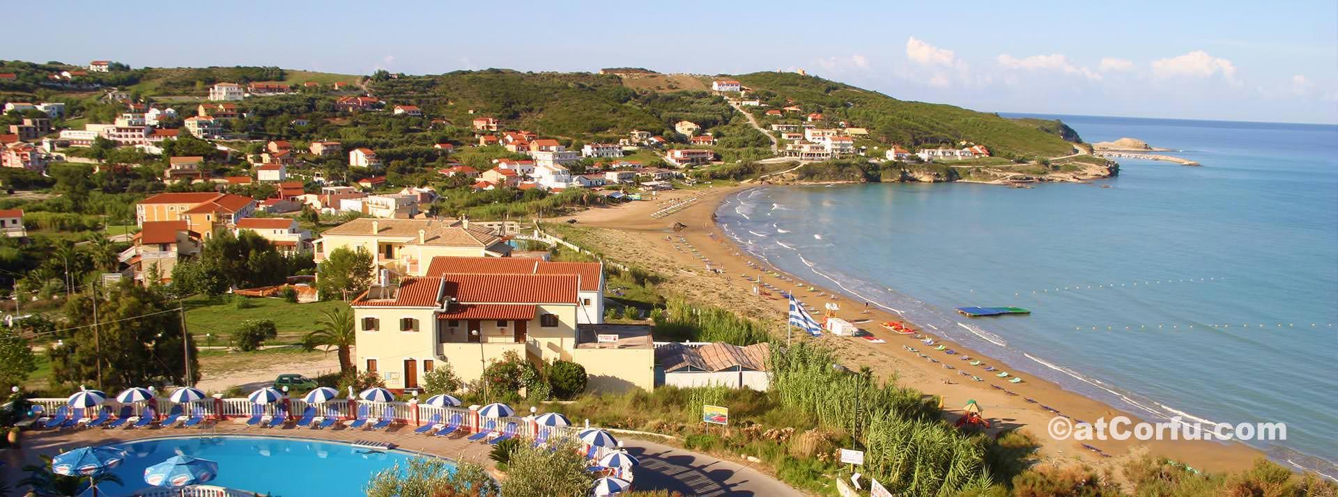 Παραλία Άγίου Στεφάνου στη βόρεια Κέρκυρα