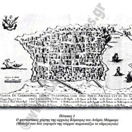 Φανταστικός χάρτης αρχαίας Κέρκυρας