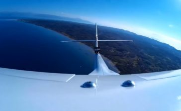 Πετώντας πάνω από τη νοτιοανατολική Κέρκυρα