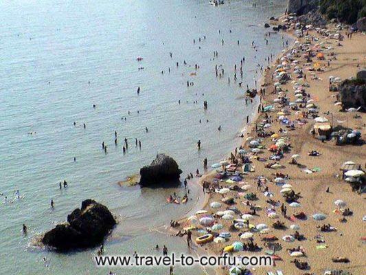 Μυρτιώτισσα-παραλία γυμνιστών Κέρκυρα