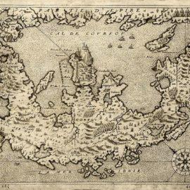Κέρκυρα σε χάρτη του 1575