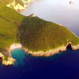 Παραλία Λινιόδωρος δυτική Κέρκυρα