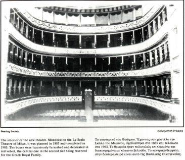 Εσωτερικό του παλιού Δημοτικού θεάτρου