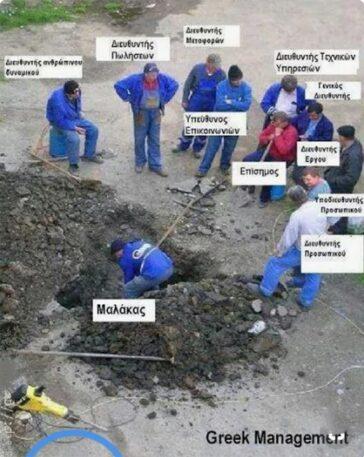 Ελληνικό συνεργείο - Ο Μαλάκας δουλεύει
