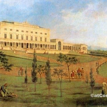 Κέρκυρα φωτογραφίες,παλάτι Μιχαήλ και Γεωργίου σε παλιά γκραβούρα