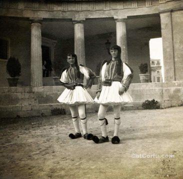 Corfu old photos-at palace at 1915