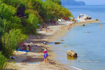Benitses - beach at Laopetra