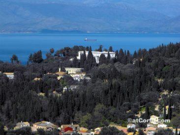 Benitses - Achilleion from Agioi Deka