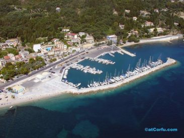 Benitses airphotos - the yacht marina