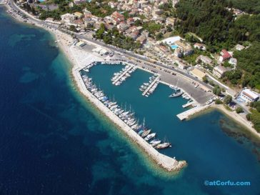Benitses airphotos - the yacht marina from north
