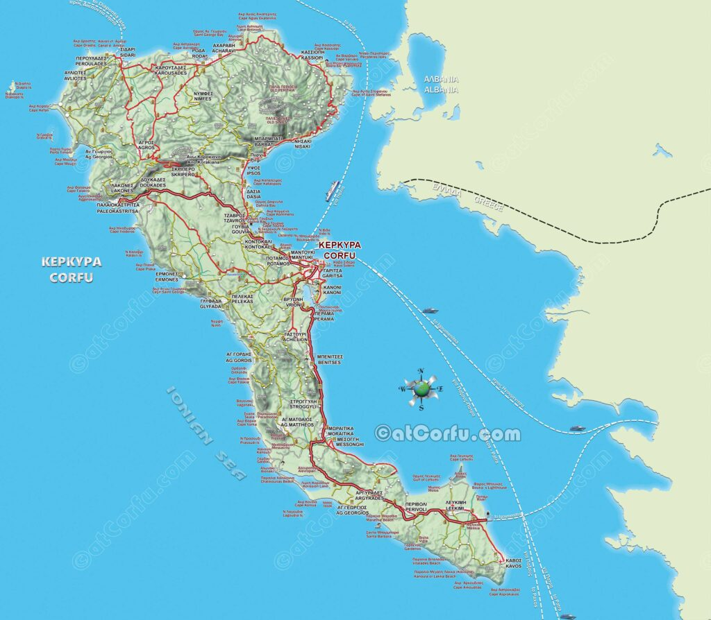 The Best Corfu Maps in Greek and English   atCorfu.com