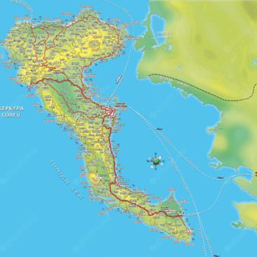 4 Best Corfu maps in Greek and English