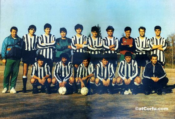 Benitses fooball club at 80s