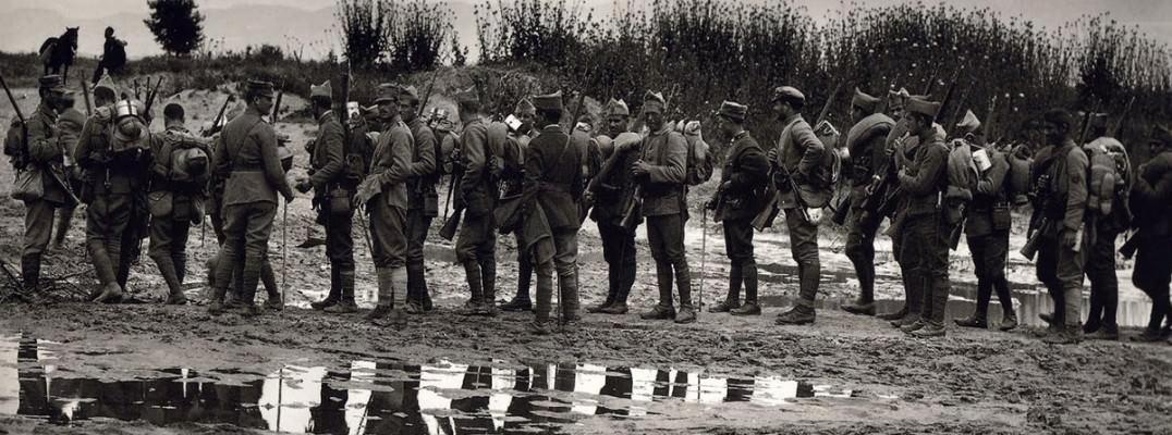 Greek army of 1912 at Strymonas river