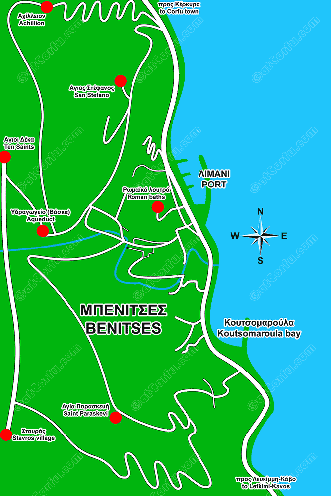 Benitses map